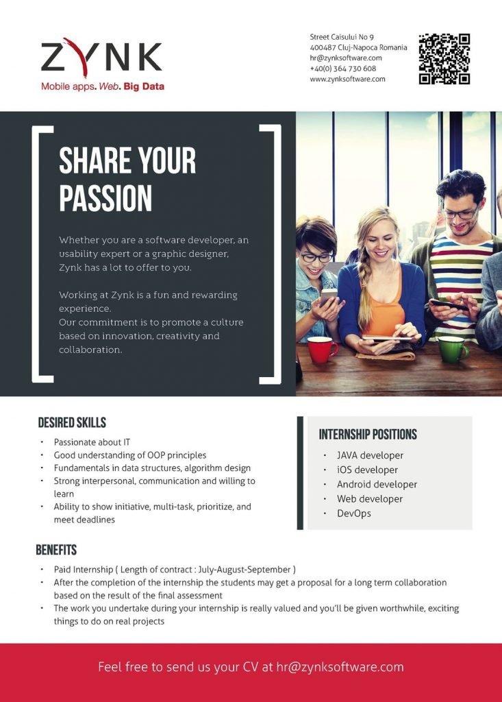 internship offer zynk