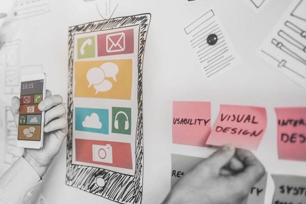 Custom software development: UI/UX design services.