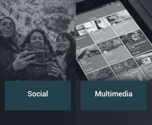 Social and multimedia mobile apps.