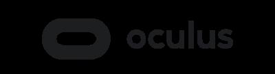 VR/AR app development: Oculus logo.